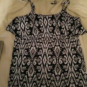 Tribal pattern maxi dress